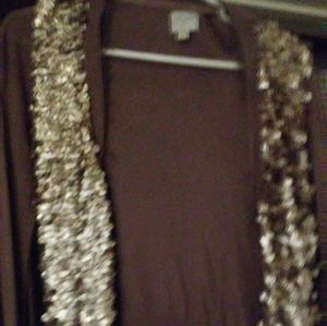 Taupe sparkly sweaters